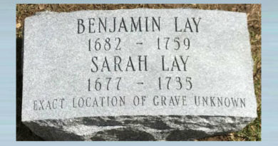 17. Grave Marker For Benjamin And Sarah Lay