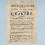1660 Declaration of Peace Pamphlet