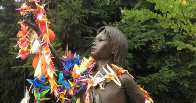 One Thousand Cranes Sculpture