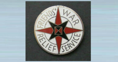Friends' War Relief Service China Convey Lapel Badge